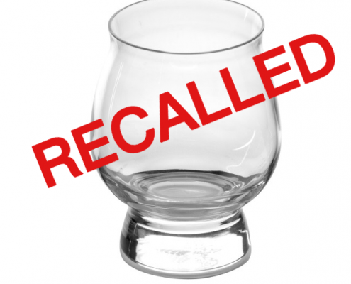 Libbey Bourbon Taster Glasses Recalled
