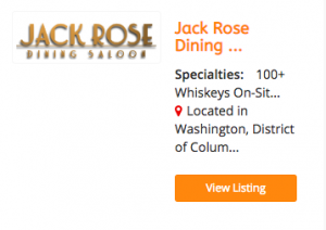 Jack Rose Whiskey Bar
